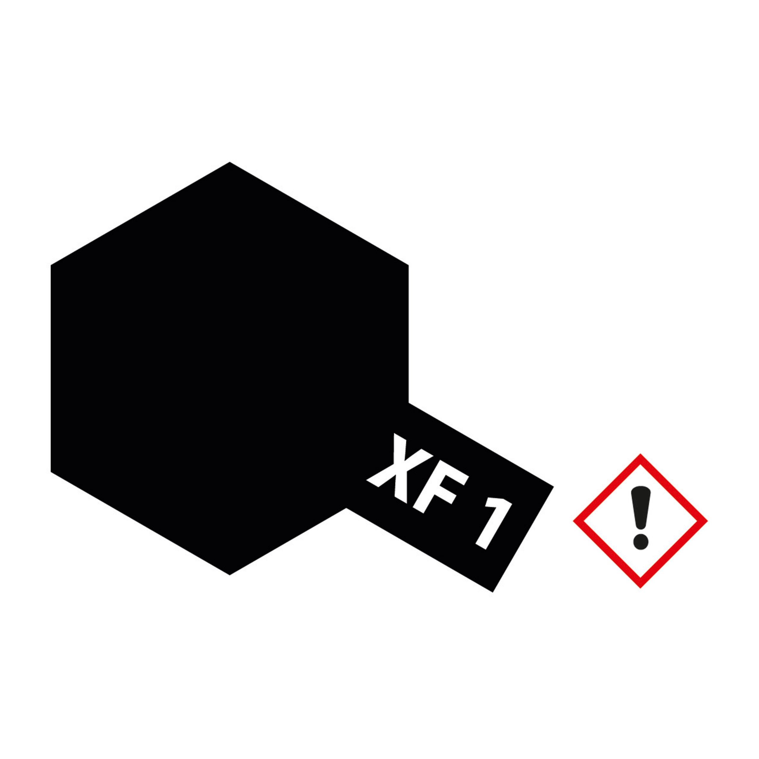 XF-1 Schwarz matt - 23ml Acrylstreichfarbe wasserloeslich Tamiya 300081301
