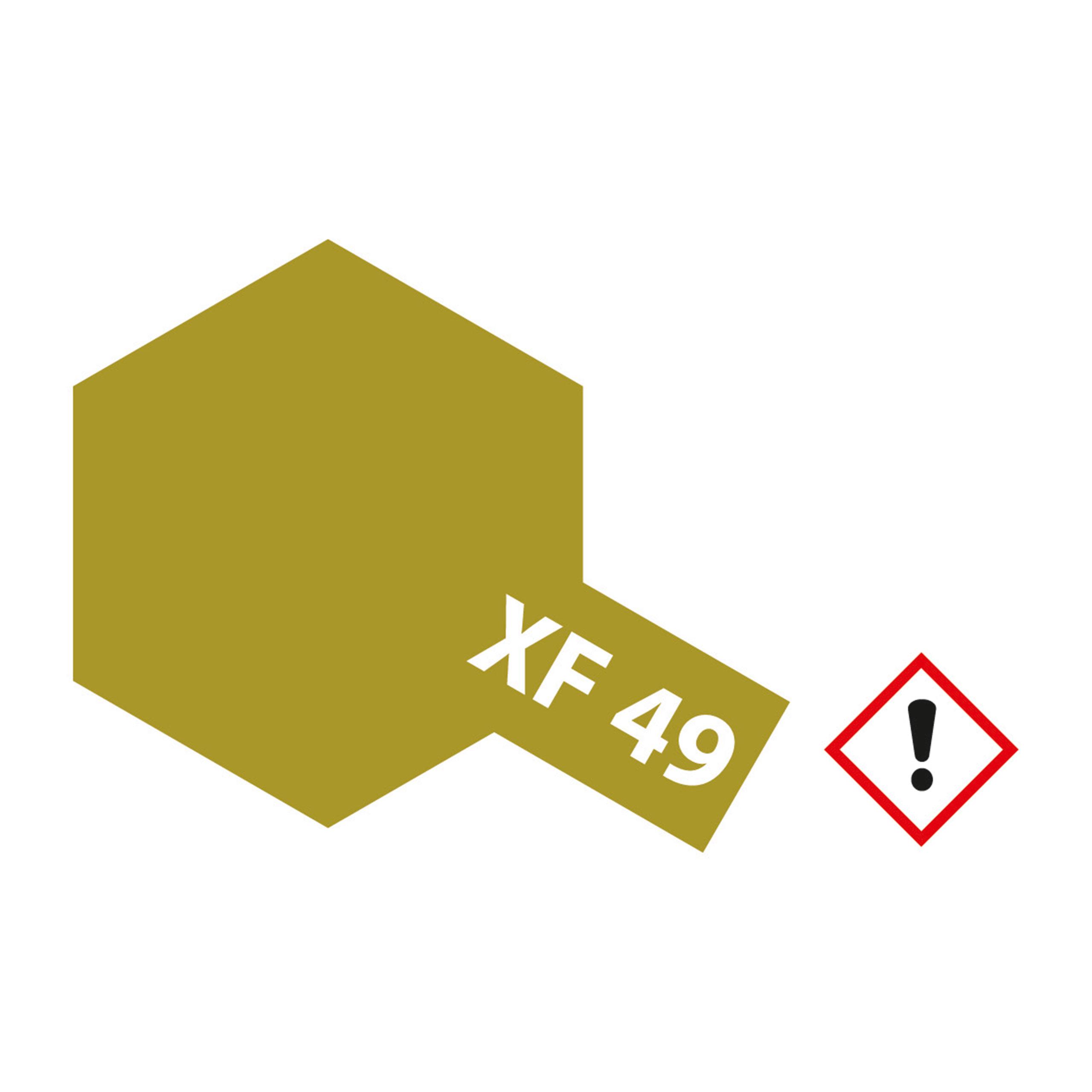 XF-49 Khaki matt - 23ml Acrylstreichfarbe wasserloeslich Tamiya 300081349