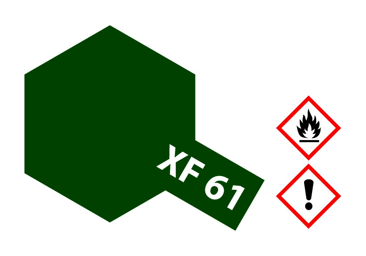 XF-61 Dunkelgruen matt - 23ml Acrylstreichfarbe wasserloeslich Tamiya 300081361