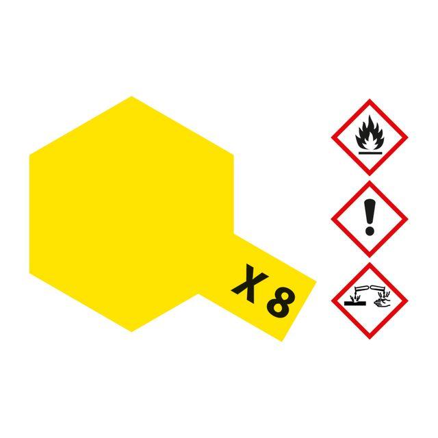 X-8 Zitronen-Gelb glaenzend - 23ml Acrylstreichfarbe wasserlöslich Tamiya 300081008