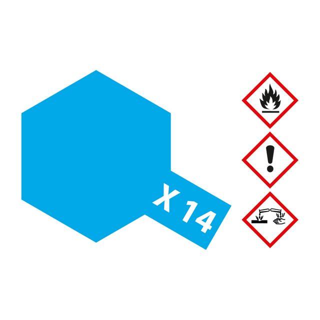 X-14 Himmelblau glaenzend - 23ml Acrylstreichfarbe wasserlöslich Tamiya 300081014