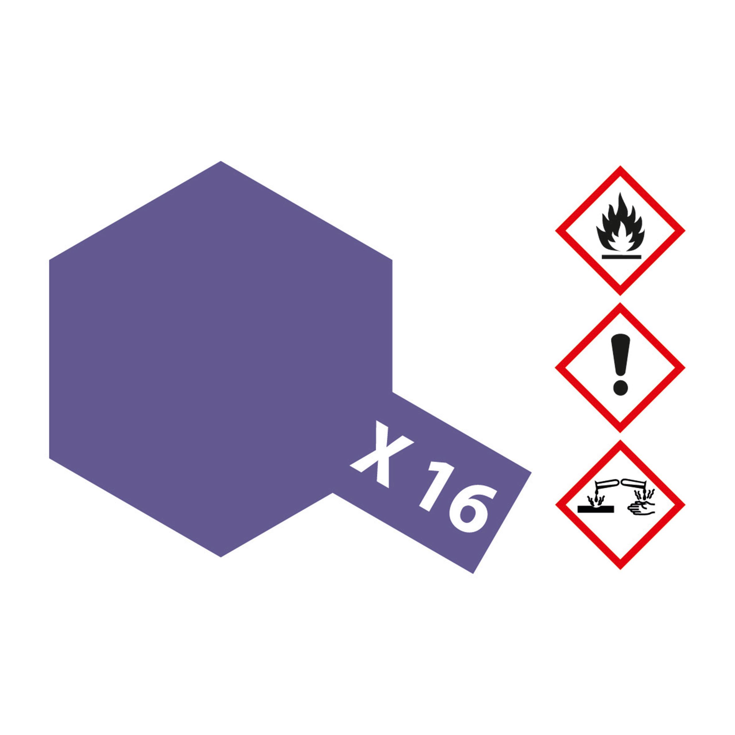 X-16 Violett glaenzend - 23ml Acrylstreichfarbe wasserlöslich Tamiya 300081016