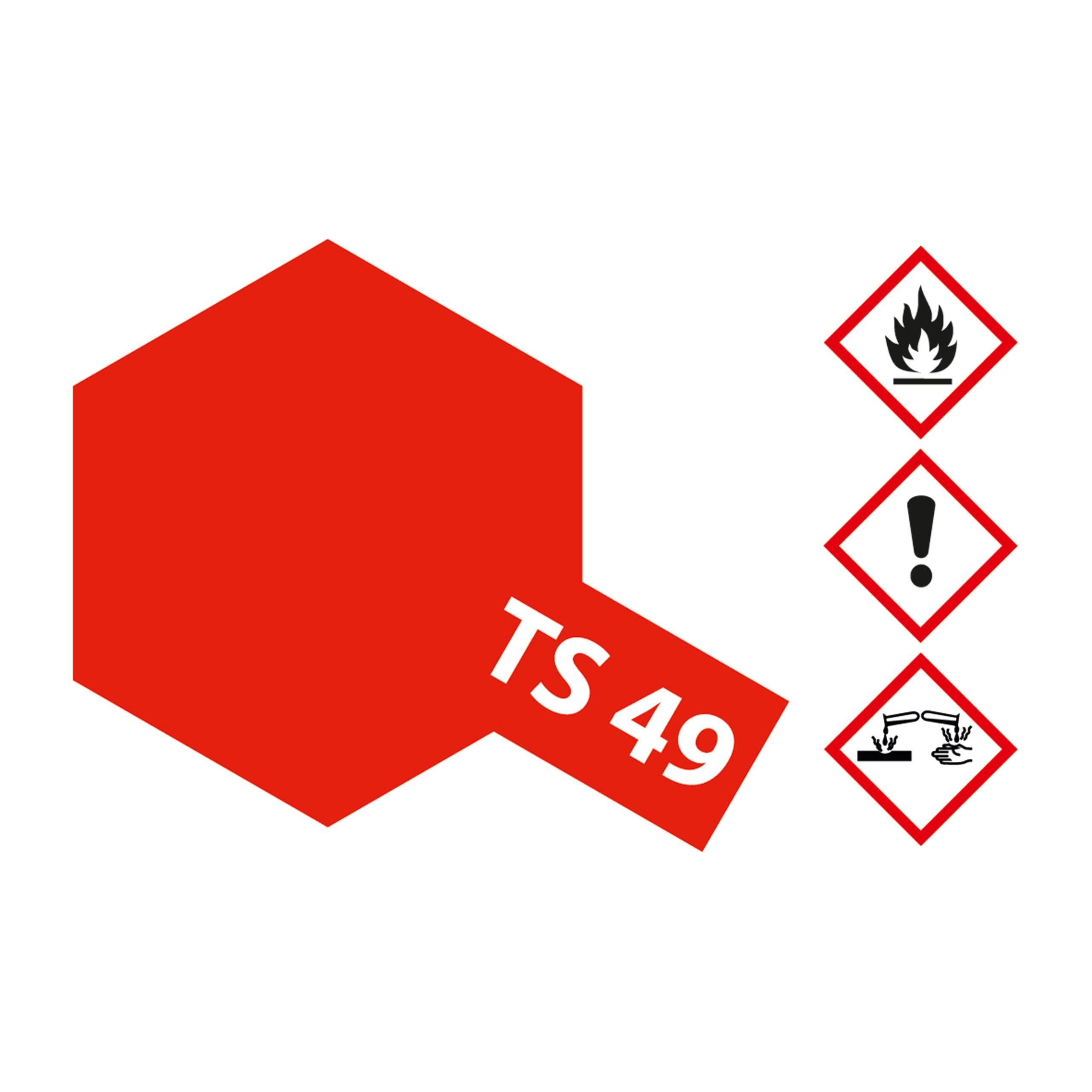 TS-49 Hellrot glaenzend - 100ml Sprayfarbe Kunstharz Tamiya 300085049