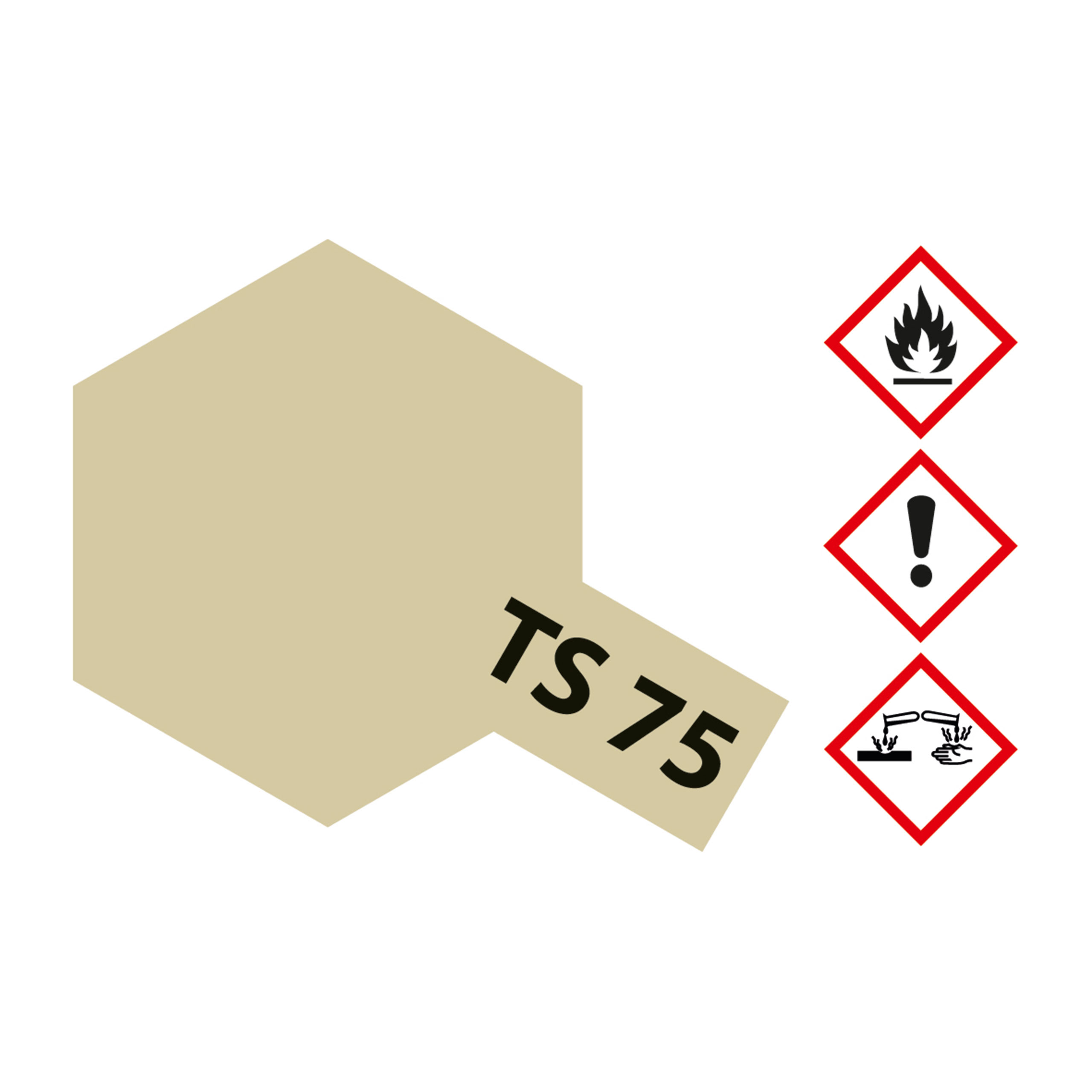 TS-75 Champagner Gold glaenzend - 100ml Sprayfarbe Kunstharz Tamiya 300085075