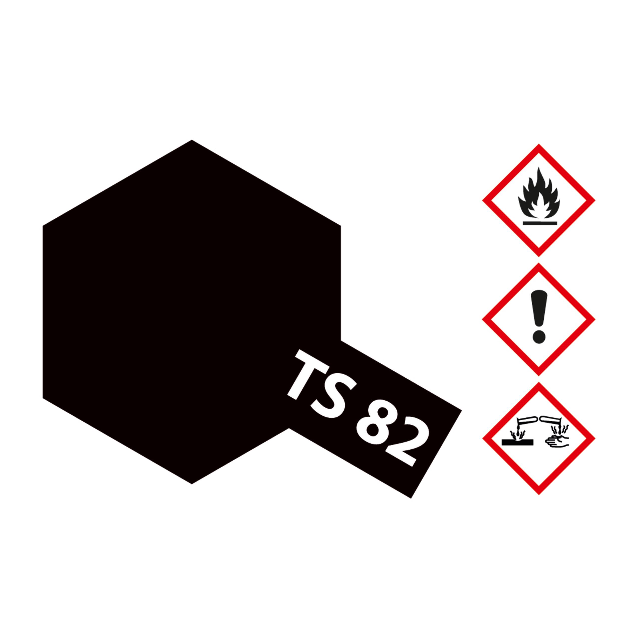 TS-82 Gummi-Schwarz matt - 100ml Sprayfarbe Kunstharz Tamiya 300085082