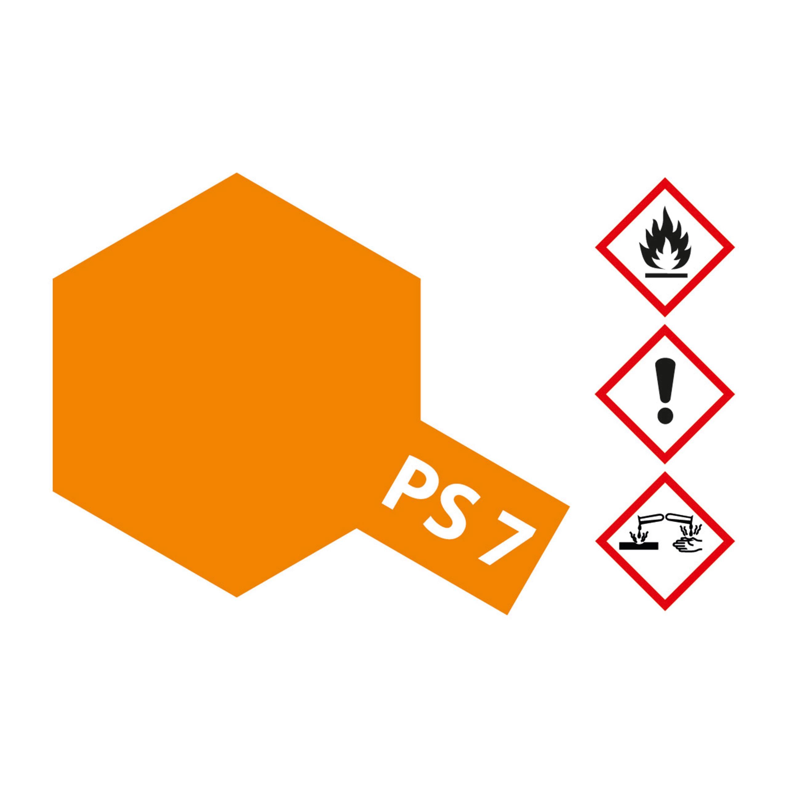 PS-7 Orange Polycarbonat - 100ml Sprayfarbe Lexan - Tamiya 300086007