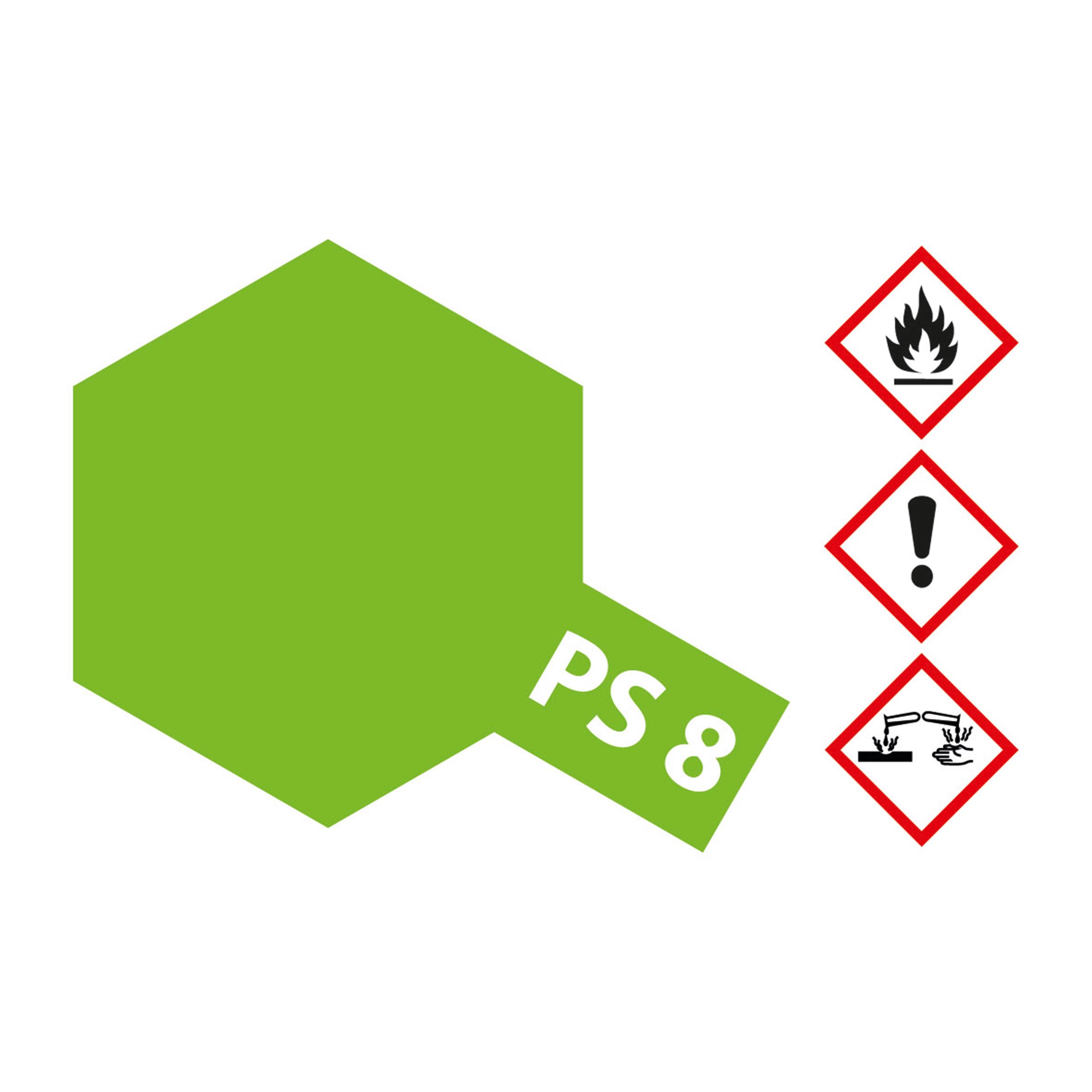 PS-8 Hellgruen Polycarbonat - 100ml Sprayfarbe Lexan - Tamiya 300086008