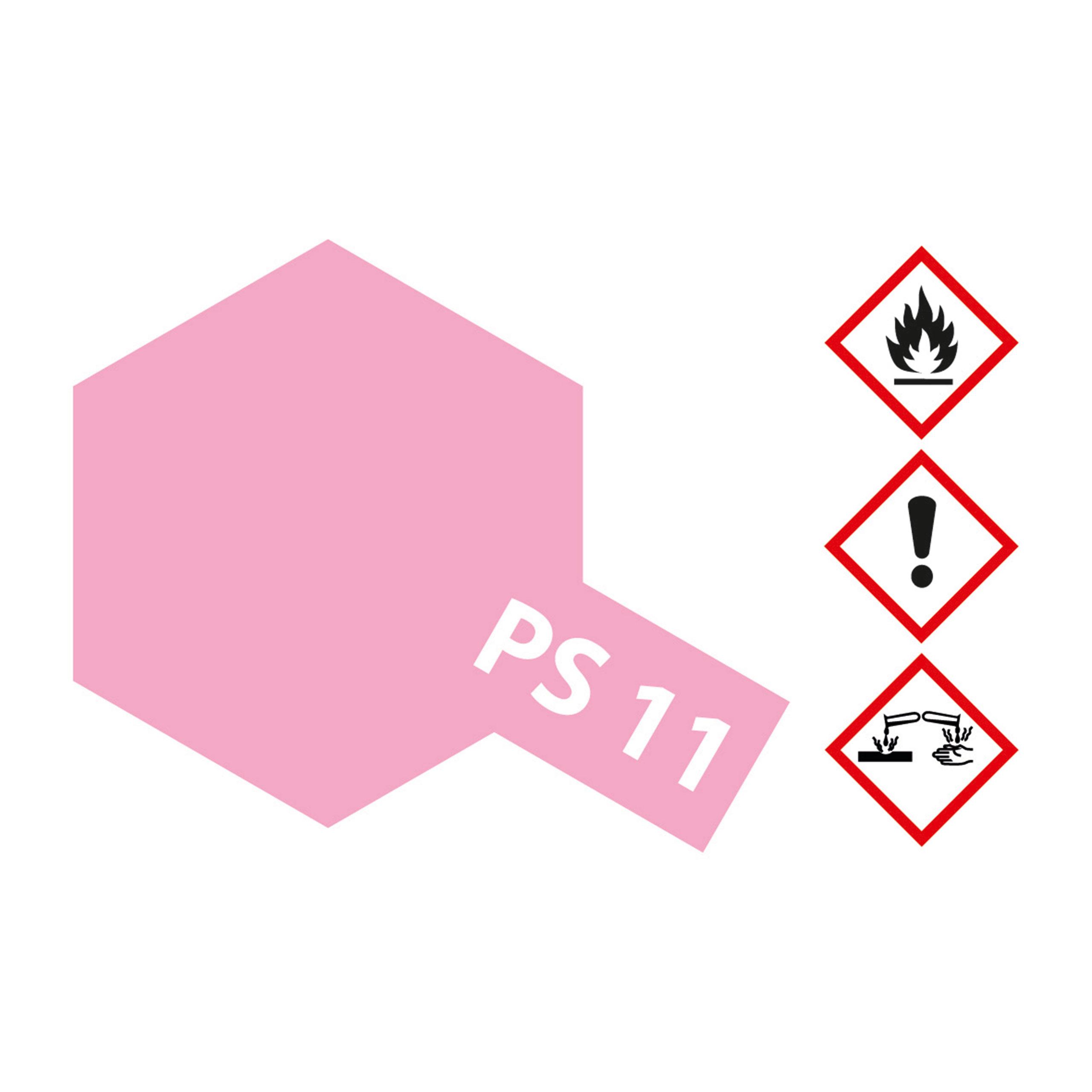 PS-11 Rosarot Polycarbonat - 100ml Sprayfarbe Lexan - Tamiya 300086011