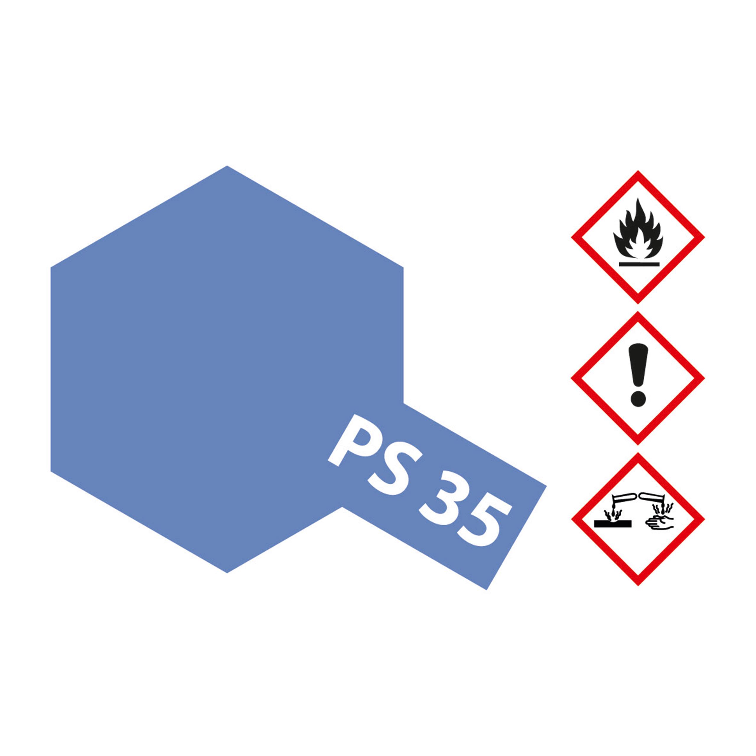 PS-35 Blau-Violett Polycarb. - 100ml Sprayfarbe Lexan - Tamiya 300086035