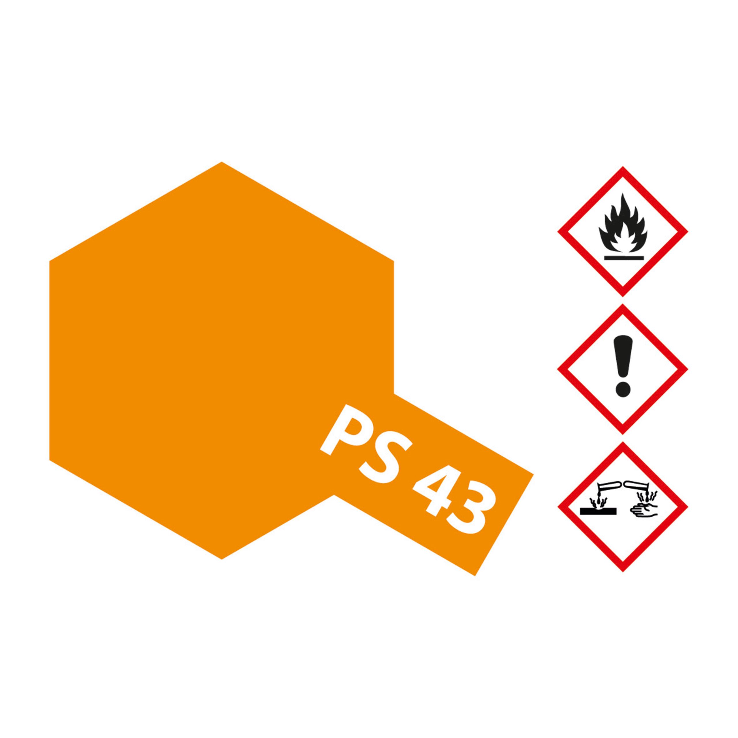 PS-43 Translucent Orange Polyc. - 100ml Sprayfarbe Lexan - Tamiya 300086043