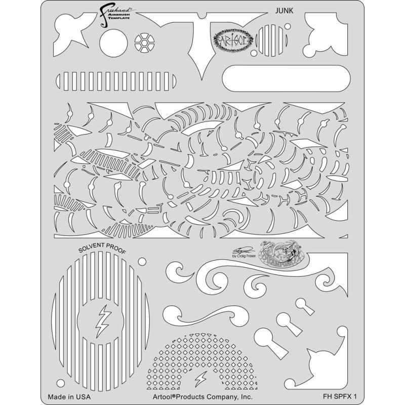 artool - Junk - Steampunk FX Schablone 200 473