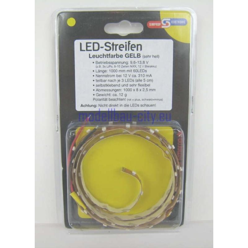 Simprop LED Streifen 100cm GELB 010 378 0 Leuchtstreifen