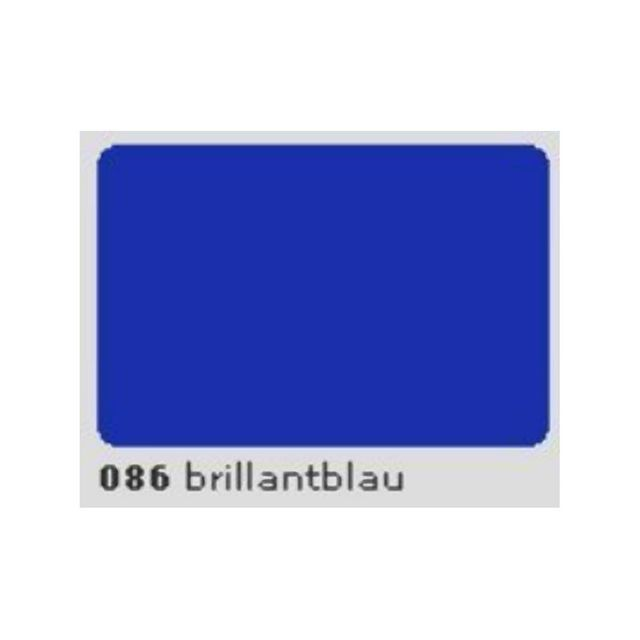 Oracal 631 Plotterfolie 63cm x 5m brillantblau MATT 086