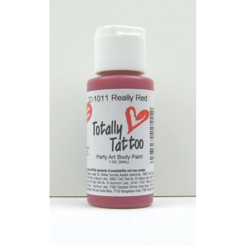 Badger Really Red (Rot) Body Paint 30ml 22-1011 Tattoo Airbrush Farbe