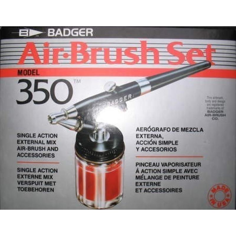 Badger 350-1F Spray Gun im Karton Airbrush Pistole