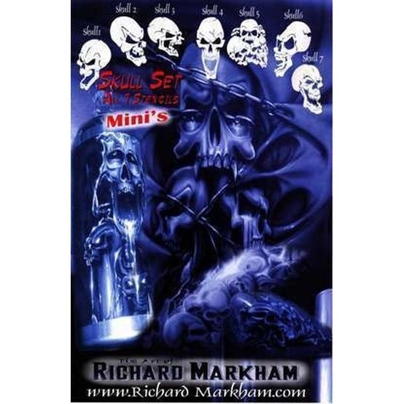 Mini - Skull Schablonen-Set 262 842 Airbrush Schablone ***