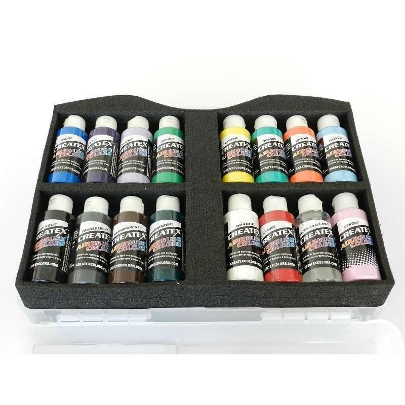 Createx Airbrush Colors Sortimentskoffer opak 800 100