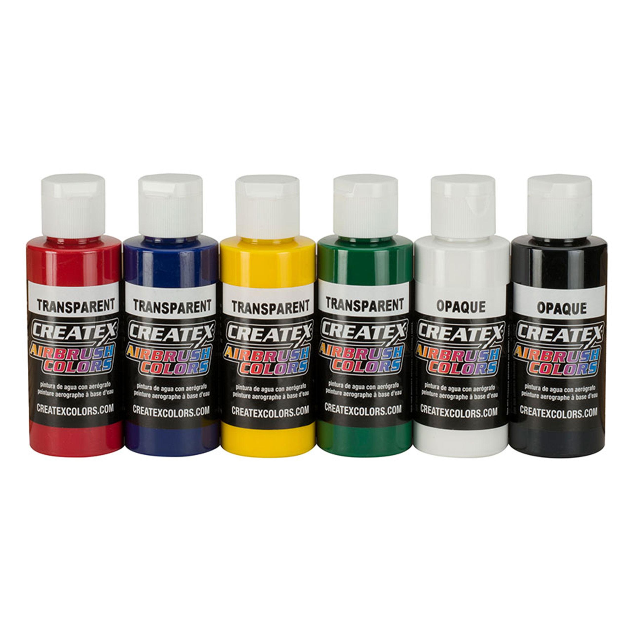 Transparent Primary Set - 6 x 60ml Airbrushfarbe - Createx Airbrush Colors 115199