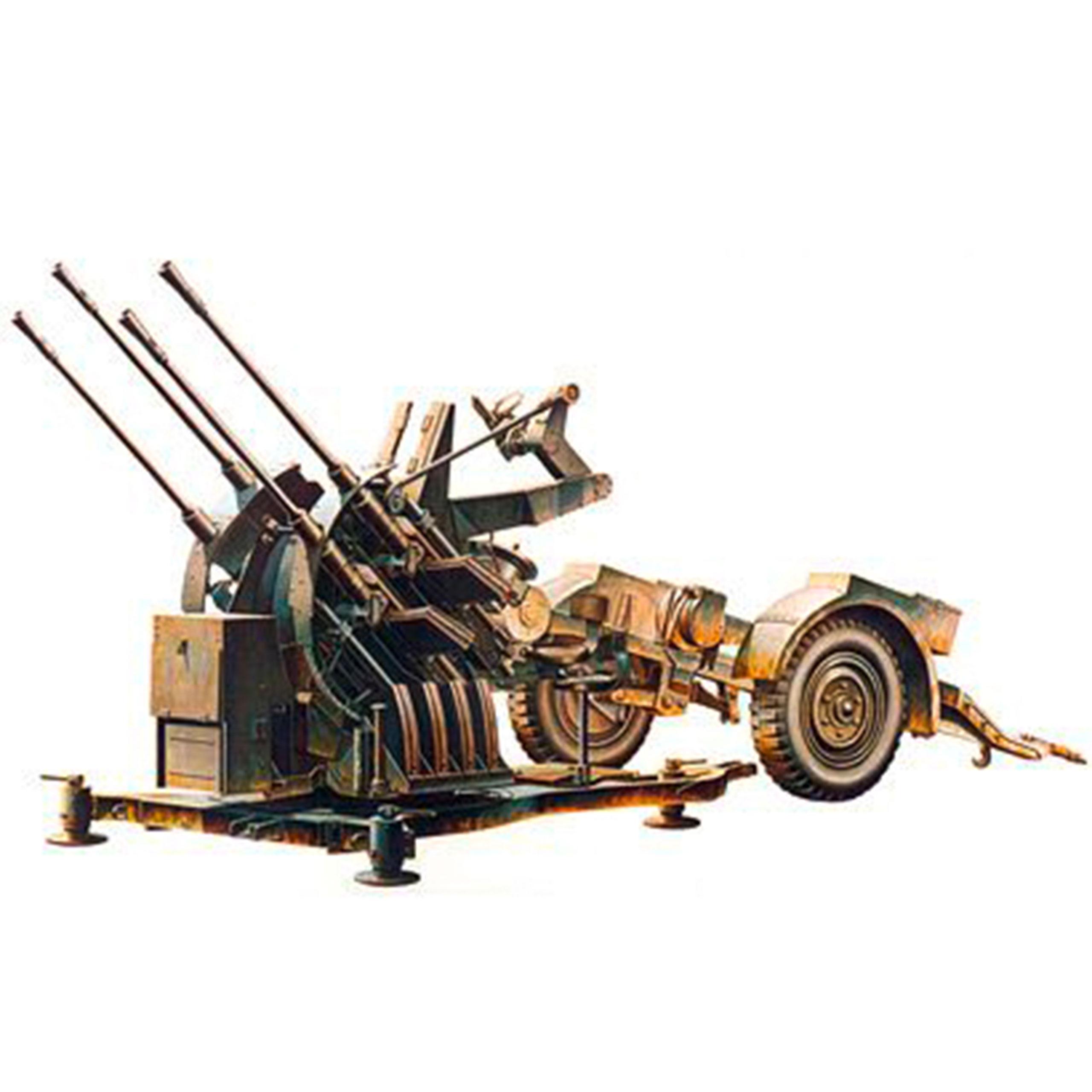 Tamiya 1:35 WWII Dt. 20mm FLAKVIERLING 38 SDAH 52 2CM 300035091