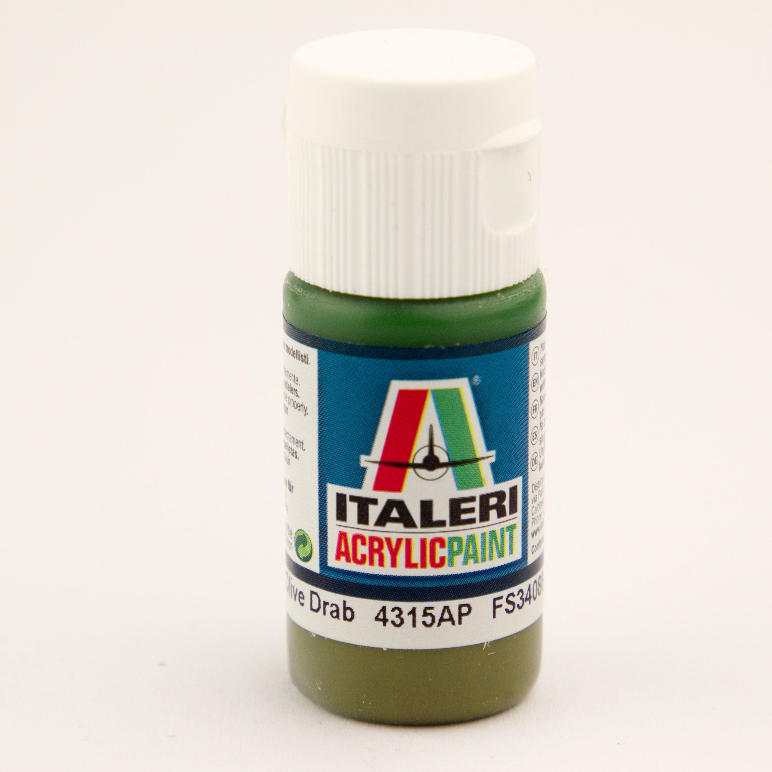 Italeri IT Acrylfarbe 4315 Braun-Oliv, mat 20 ml Airbrush Farbe