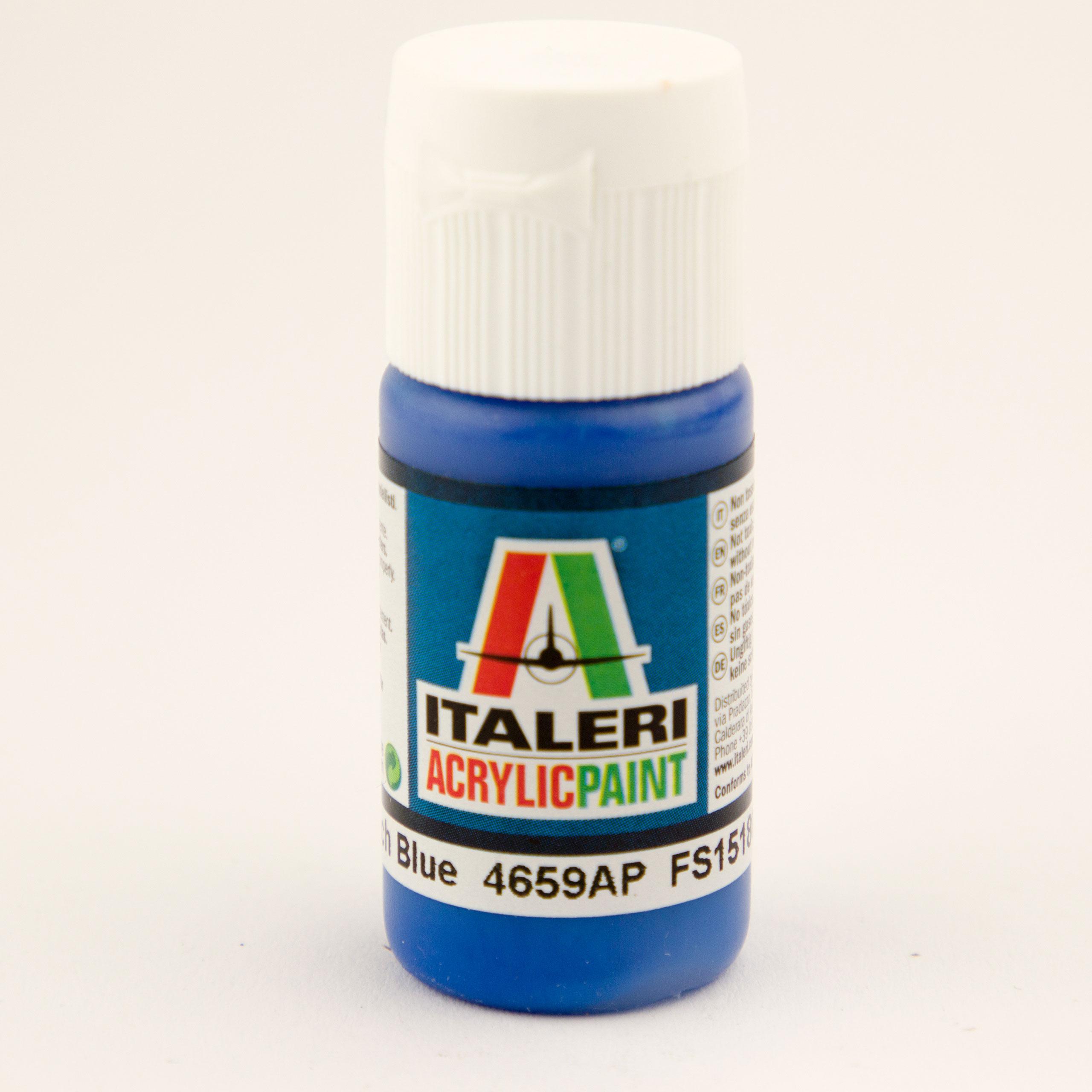 Italeri IT Acrylfarbe 4659 Franz. Blau glä 20 ml Airbrush Farbe