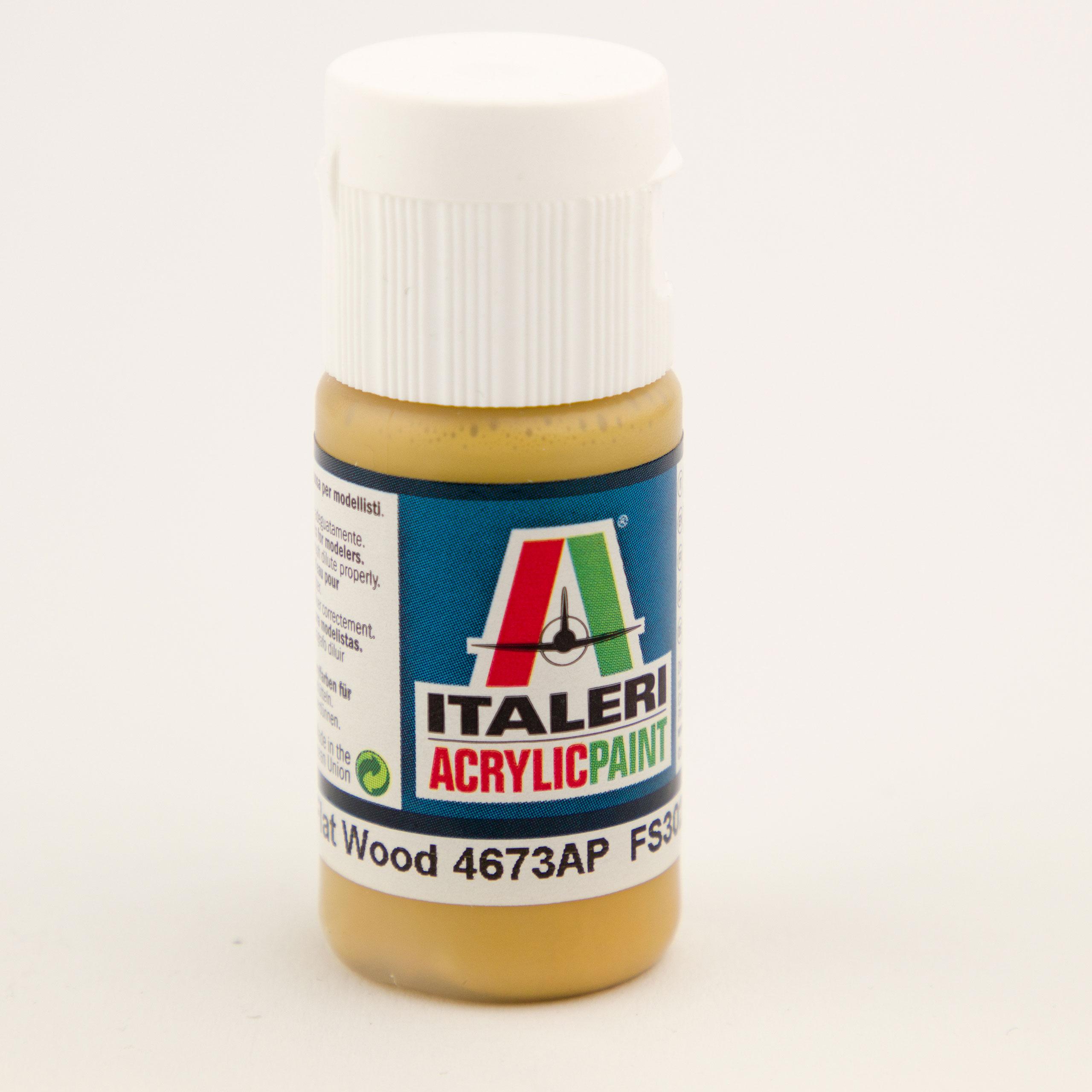 Italeri IT Acrylfarbe 4673 Holz matt 20 ml Airbrush Farbe