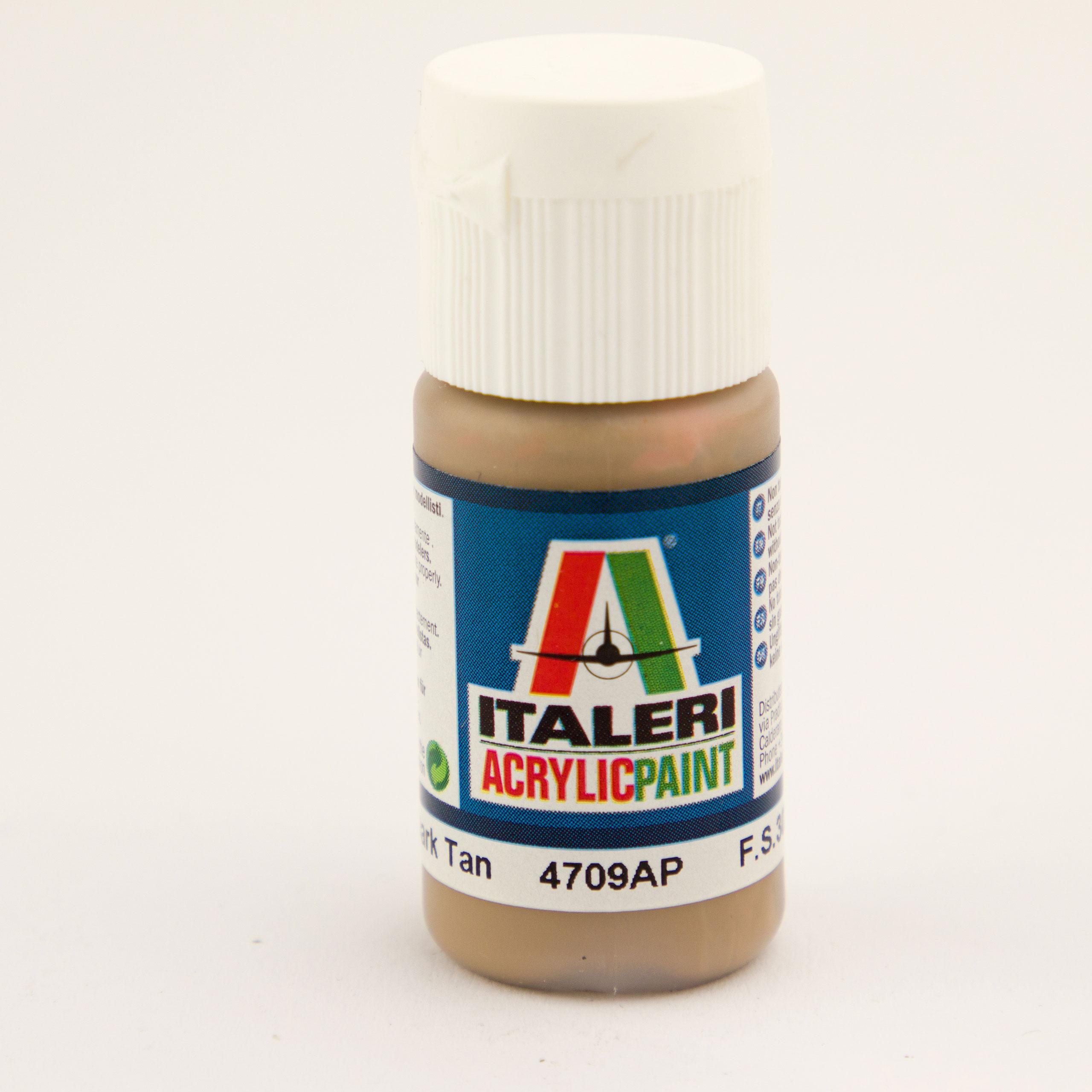 Italeri IT Acrylfarbe 4709 Dkl.Braun/Tan 20 ml Airbrush Farbe