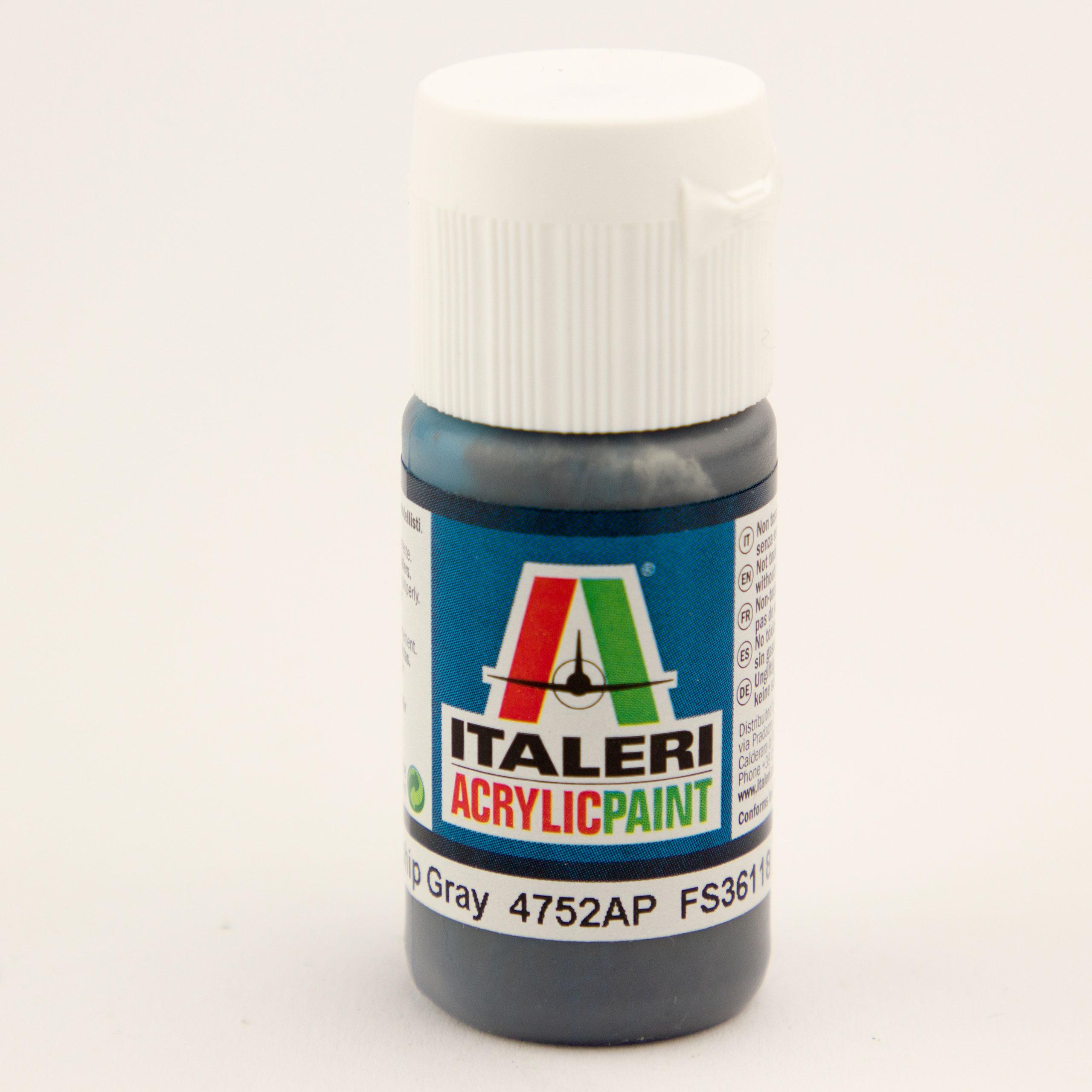 Italeri IT Acrylfarbe 4752 Gunship-Grau m 20 ml Airbrush Farbe
