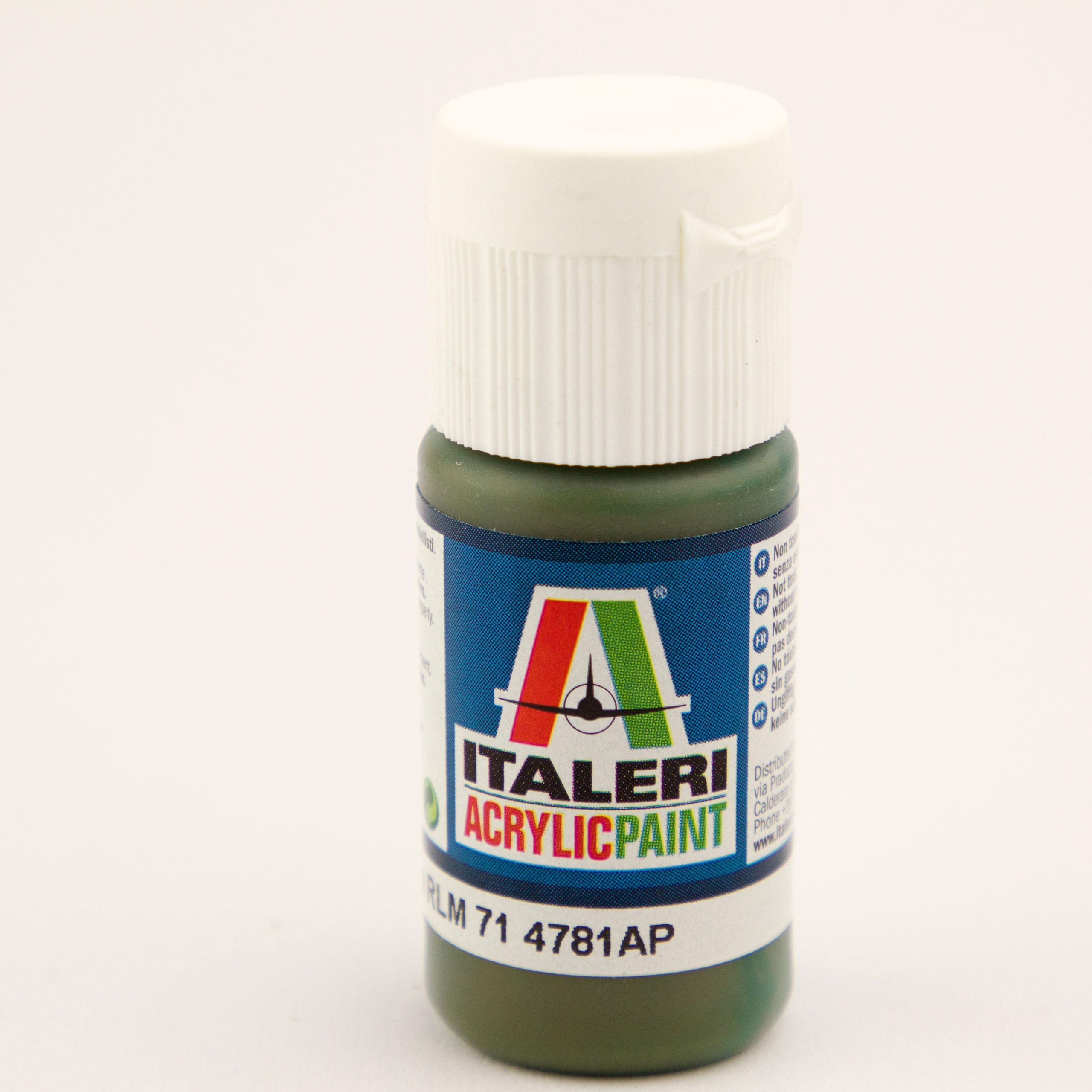 Italeri IT Acrylfarbe 4781 Dunkelgrün RLM7 20 ml Airbrush Farbe