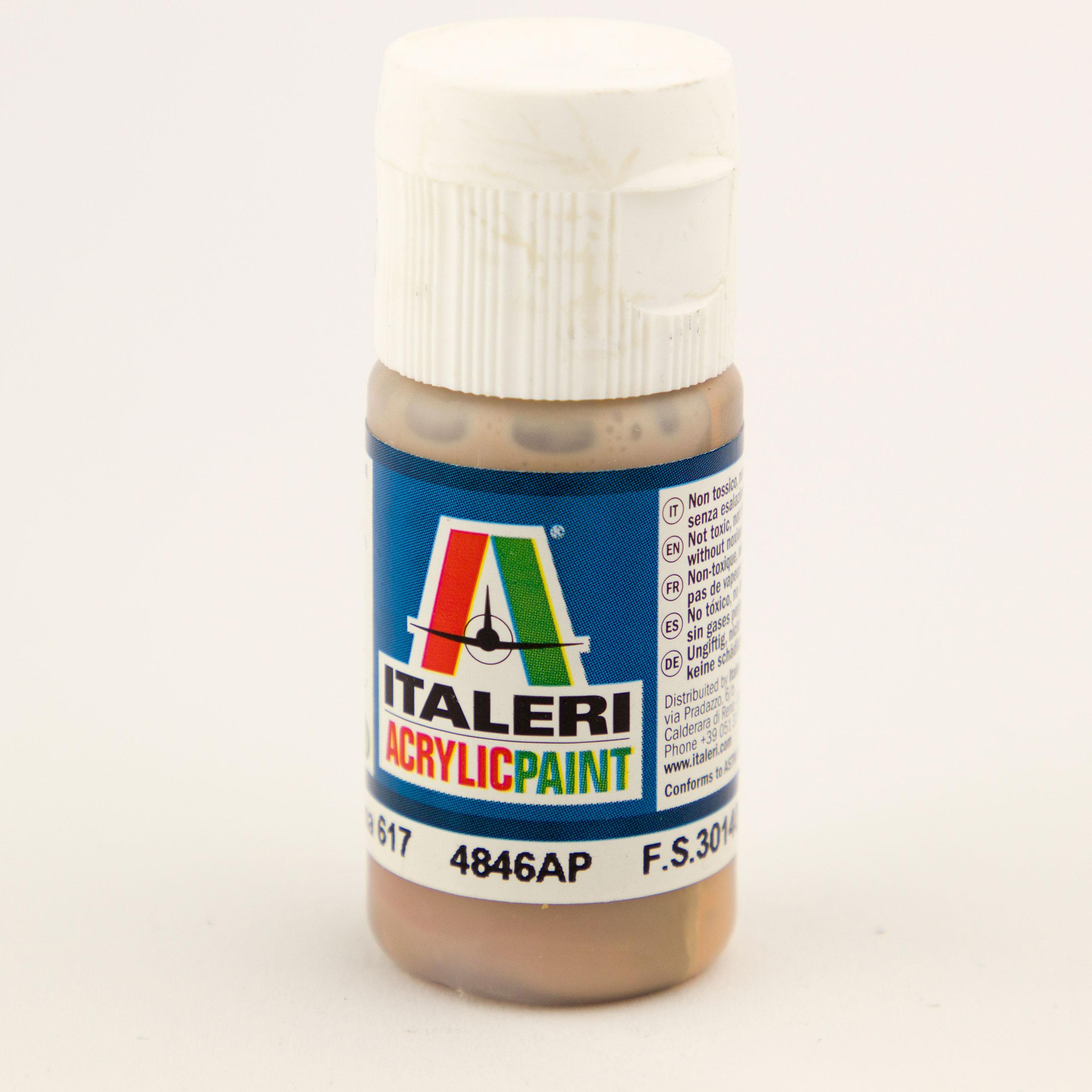 Italeri IT Acrylfarbe 4846 Erde Dunkel Ana 20 ml Airbrush Farbe